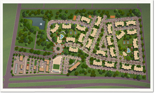 Architectural Rendering Services – Rendered Site Plan